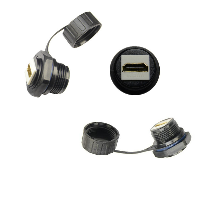 IP67 HDMI 2.0 Waterproof Connector socket , hdmi female to Female Cable signal Adapter Water Proof Connectors hd straight head цена и фото