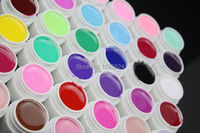 Professionele 36 Pure Kleuren Decor UV Gel Nail Art Tips Glanzende Cover Extension Manicure losweken nail gel kit