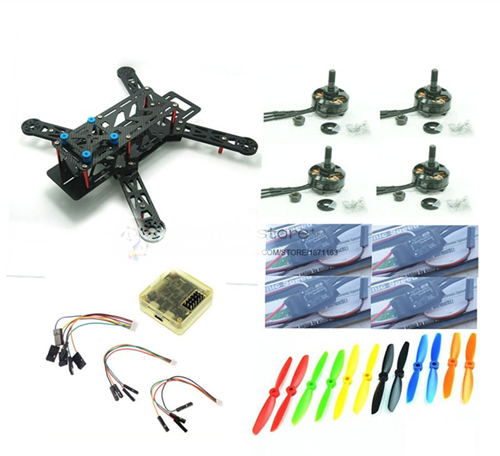 DIY FPV mini drone QAV-R 220 quadcopter pure carbon 4x2x2 frame kit DX2205 + RED HAWK 20A ESC 2-4S + NAZE32 / SP F3 + camera diy fpv mini drone qav210 zmr210 race quadcopter full carbon frame kit naze32 emax 2204ii kv2300 motor bl12a esc run with 4s