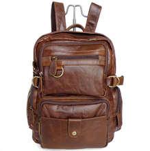 Vintage Real Genuine Leather Women Backpack Cow Leather School Backpacks Office Bag Backpacks Women Travel Bags #VP-J7042