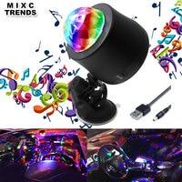 MIXC TRENDS 6 Color Changing Car DJ Music Light Mini RGB LED MP3 Disco Crystal Magic