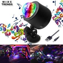 Mixc тенденции 6 Цвет изменение автомобиля DJ Музыка Light Мини RGB LED MP3 Disco хрустальный магический шар этап Строб вспышка светильник с разъемом USB
