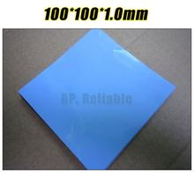 100mm*100mm*1.0mm Thermal Pad /Pads for Chipset IC Laptop /VRAM /Heatsink Cooling /Thermal Conductive Insulating Blue(China)