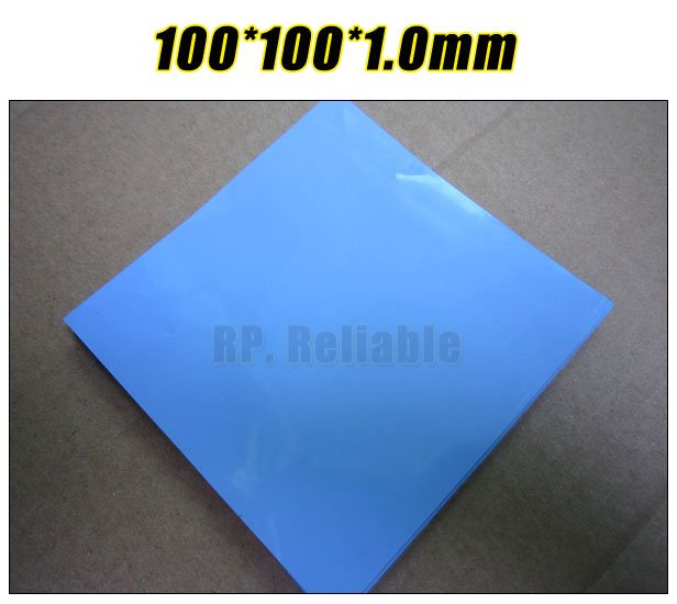 100mm*100mm*1.0mm Thermal Pad /Pads for Chipset IC Laptop /VRAM /Heatsink Cooling /Thermal Conductive Insulating Blue 100mm 100mm 1 0mm thermal pad pads for chipset ic laptop vram heatsink cooling thermal conductive insulating blue