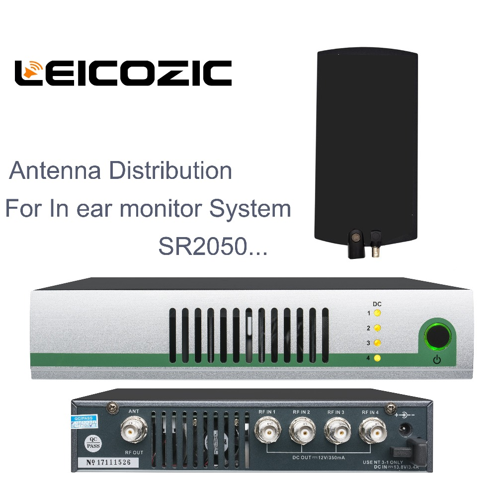 Leicozic 500-950 mhz UHF Wireless System Antenne Power Verteilung Amp + Aktive Sender Combiner für <font><b>in</b></font>-<font><b>ear</b></font>-monitor <font><b>SR2050</b></font> IEM image