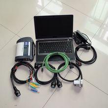 2017 top set MB SD Connect C4 Star Diagnosis C4 Multiplexer+ 2017.12v ssd software+ laptop for D-ell E6320 (i5) diagnostic PC