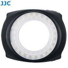 Светодиодный макро-кольцевой светильник JJC для камеры с левой/правой и полукруглой вспышкой для NIKON/CANON/SONY/PENTEX/Olympus
