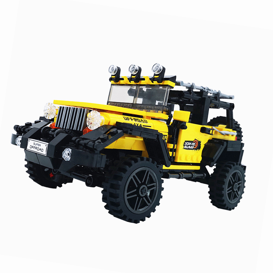 XingBao XB-03024 Off-road Adventure Chrysler Yellow Jeep Wrangler Building Block 27