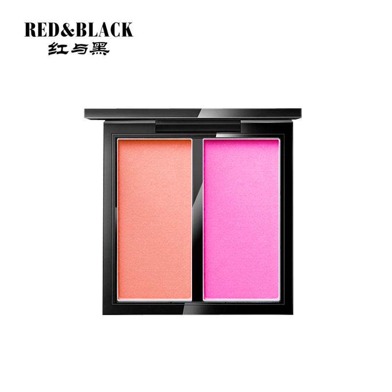 Red&Black Professional Peacock Double Blusher Cheek makeup Palette Sweet Charming Cheek 2 Colors Mineral Blush