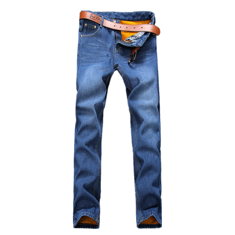 2016 new men s jeans blue thick classic fashion jeans men sky blue casual men s