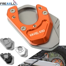 For KTM 690DUKE 690 DUKE 2012 2013 2014 2016 CNC Motorcycle Aluminum Kickstand Side Stand Plate Pad Support Enlarge Extension цена