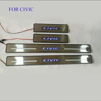 Car Styling FIT For 2016 Honda CIVIC LED Door Sill Scuff Pedal Door Step Light Welcome