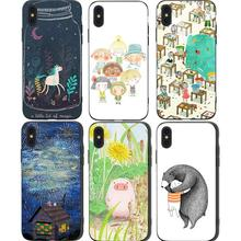 Cute Unicorn Phone Cases Cover for iphone X XR XS MAX 6 6s 7 8 Plus TPU Coque For 8Plus 5SE