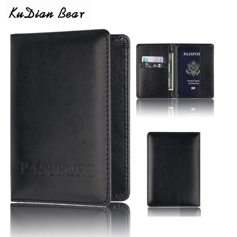 KUDIAN BEAR Brand Passport Cover Women Passport font b Holder b font Designer Travel Cover Case