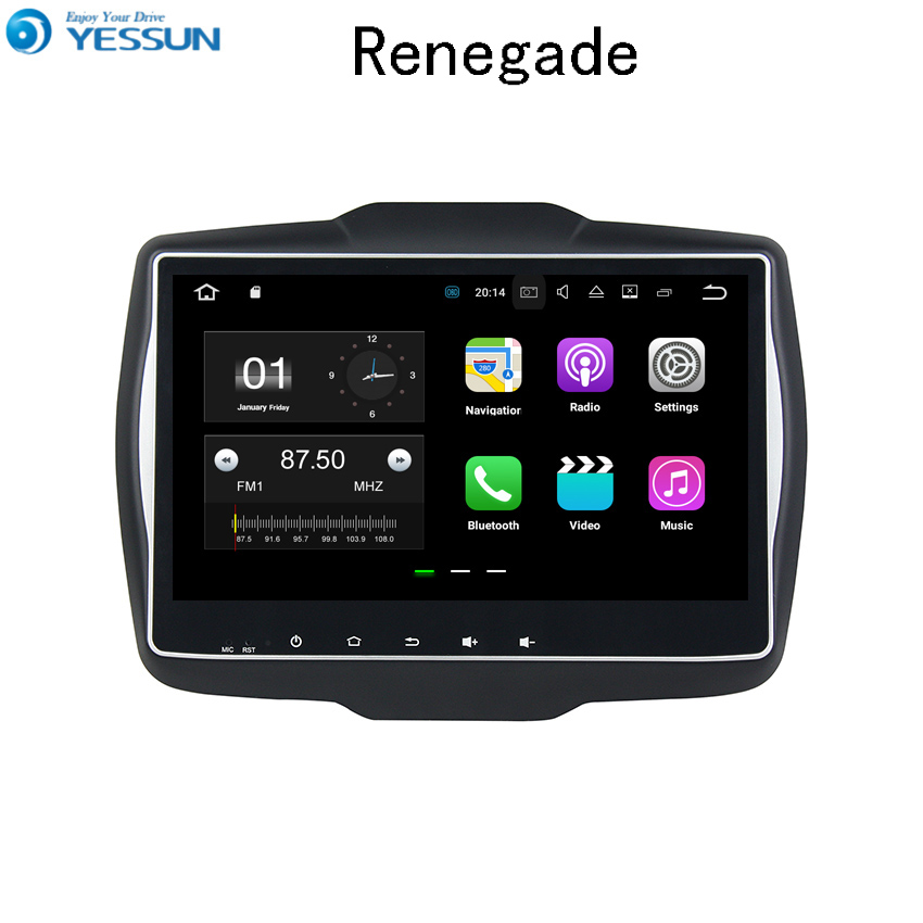 YESSUN Car Navigation GPS Android For Jeep Renegade 2016~2017 Audio Video HD Touch Screen Stereo Multimedia Player No CD DVD yessun android car navigation gps for hyundai santa fe 2006 2012 audio video hd touch screen stereo multimedia player no cd dvd