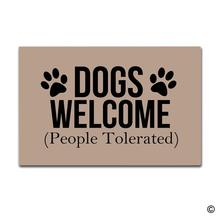 Doormat Entrance Mat Enterways Dogs Welcome (People Tolerated)  Doormat 23.6 by 15.7 Inch Machine Washable Non woven Fabric