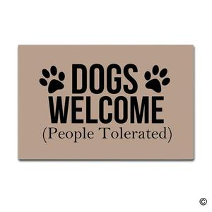 Image 1 - Doormat Entrance Mat Enterways Dogs Welcome (People Tolerated)  Doormat 23.6 by 15.7 Inch Machine Washable Non woven Fabric