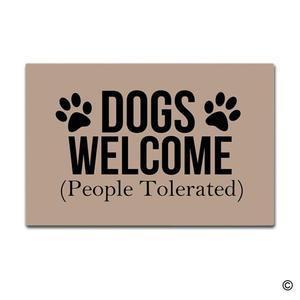 Image 1 - שפשפת מחצלת כניסה Enterways כלבים בברכה (אנשים נסבל) שפשפת 23.6 על ידי 15.7 inch מכונת רחיץ שאינו ארוג בד