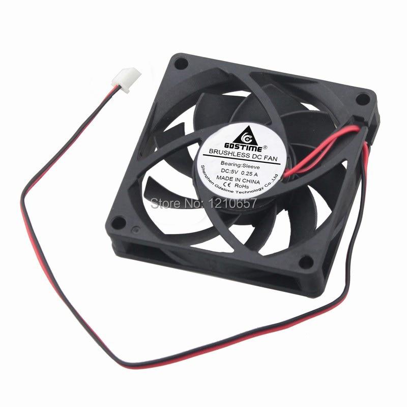 thickness DC 12V 0.45A 7cm large wind fan cooling 5800rpm Brand New PWM fan slim 7010 R127010BU 70mm 10mm