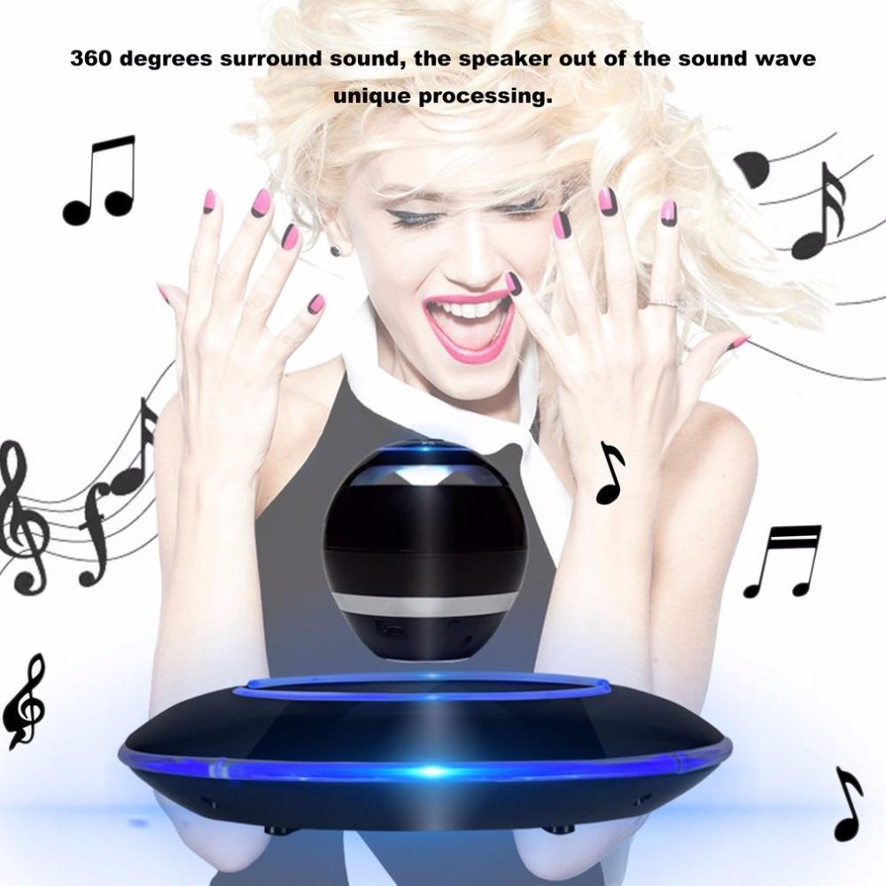 Unique Design Wireless Bluetooth Levitating Speaker 360 Degrees Surround Sound LED Light Floating Speaker for Smartphones h1005 bluetooth 4 0 speaker tumbler design blue