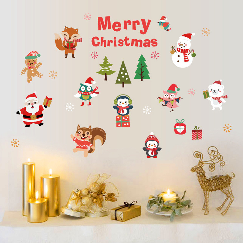 Vinyl Removable 3D Wall Sticker Christmas Tree Decals For ...