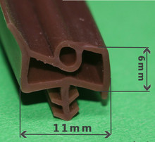6*11mm 6M Silicone Rubber Wooden Door Thong Crash Article Doors Sealing Trip Windproof Card Slot Capitales 3 Colors Free Ship
