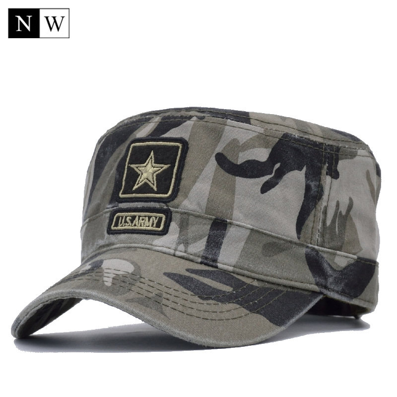 NORTHWOOD  2017 New Camo Flat Cap US Army Cap Men Baseball Cap Camouflage  Mens 36b75ce16c54