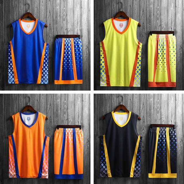 Us 16 74 10 Off New Men Reversible Basketball Jerseys Male Double Sided Wear Basketball Uniforms Throwback College Basketball Shirt Shorts In