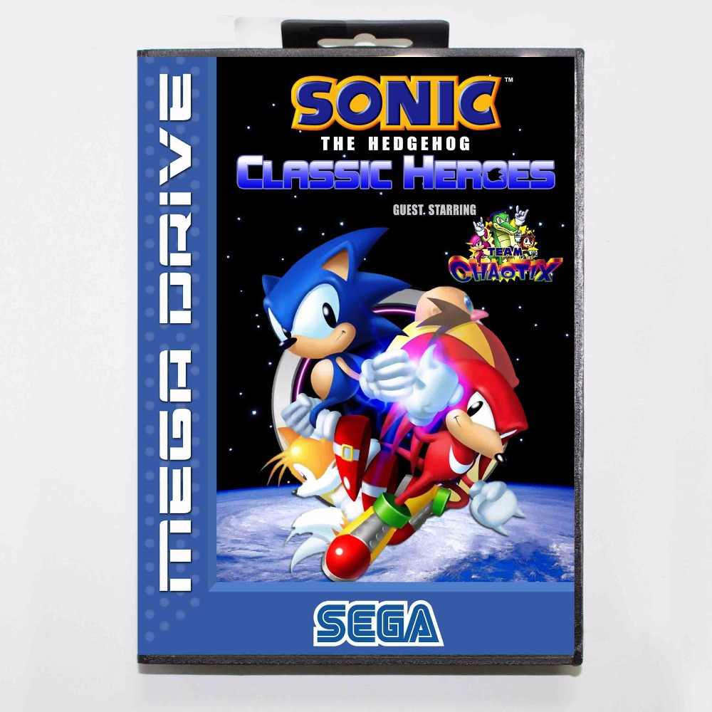 Sonic The Hedgehog Classic Heroes 16 bit MD Game Card With Retail Box For Sega Mega Drive