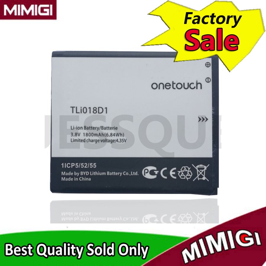JESSQUE 1800 mAh TLi018D1 Batterie Pour Alcatel One Touch Pop D5 double 5038x OT5038X Pop 3 5015D OT 5016 Bateria Accumulateur AKKU