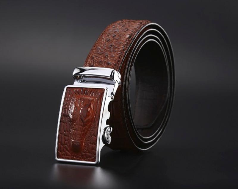 44dcc6eff628 Mode Hommes ceintures ceintures De Luxe en cuir Véritable de ...