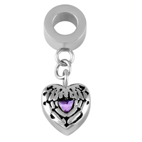 IJA0005 Wholesale Small Stainless Steel Angel Wing Feather Heart Cremation Pendant&Necklace Keepsake Urn Jewelry Accessories