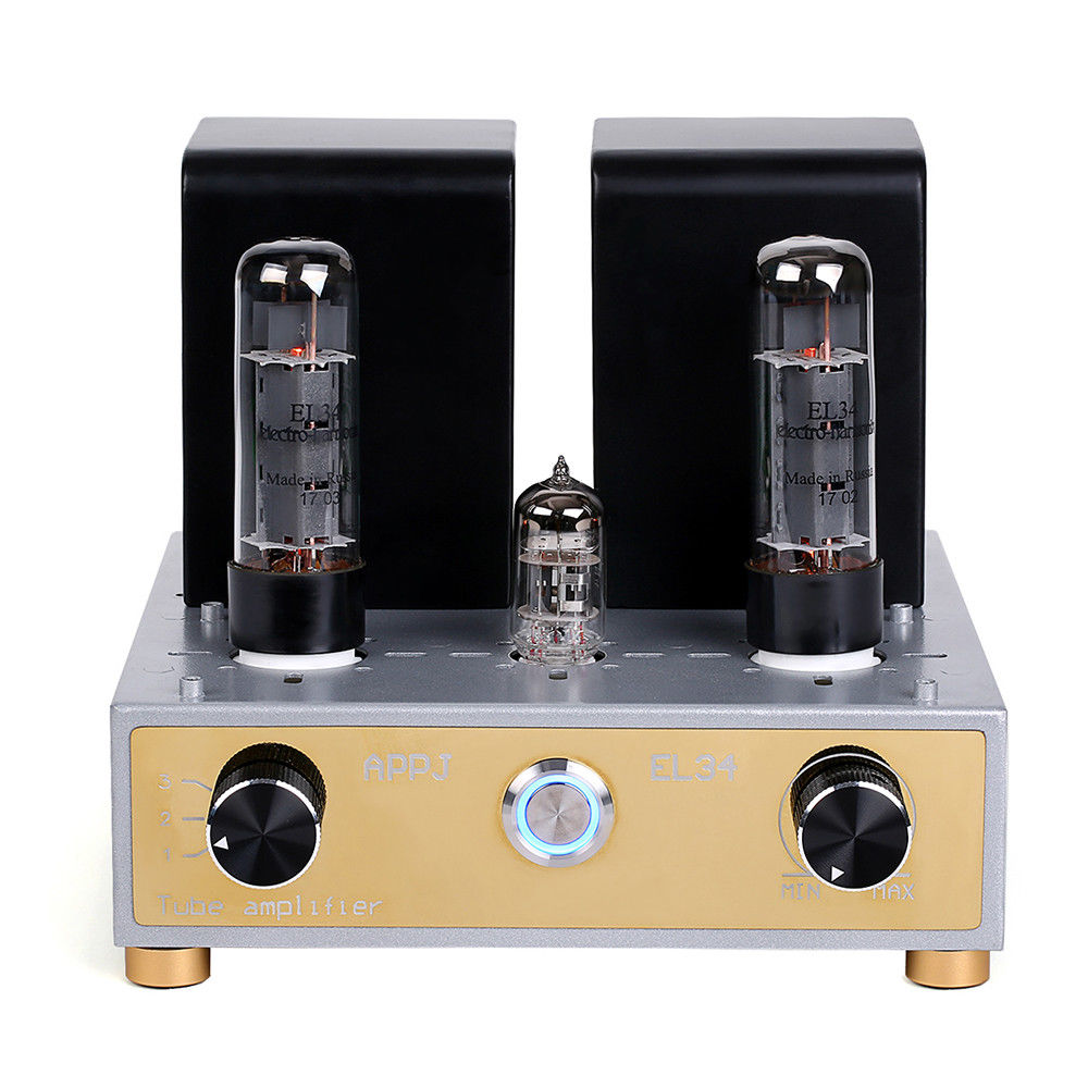 2017 New Nobsound APPJ Mini HiFi EL34 Vacuum/Valve Tube Amplifiers Stereo Single-Ended Class A Power Amp 12W+12W appj pa1501a mini stereo 6ad10 vintage vacuum tube amplifier desktop hifi home audio valve tube integrated power amp