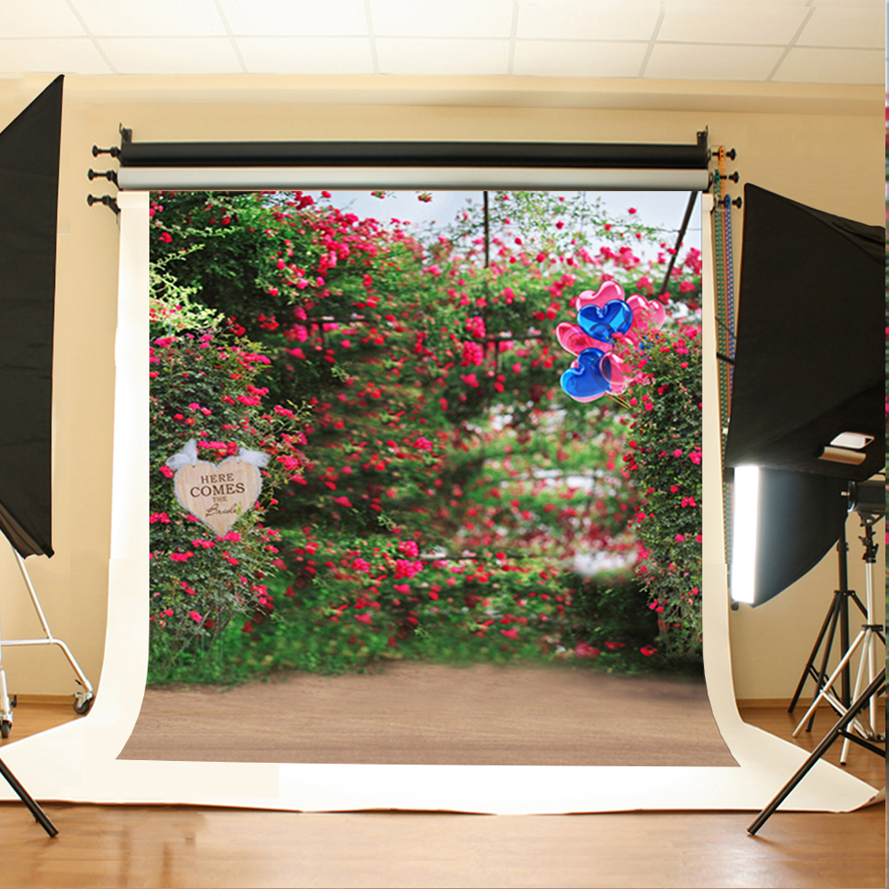 10x10ft Red flowers  Photography Background Backdrops Custom Wedding Country View Backdrops for Photo Booth Camera Fotografia simple wave photography backdrops 3x5ft newborn boy birthday photography background custom made fotografia