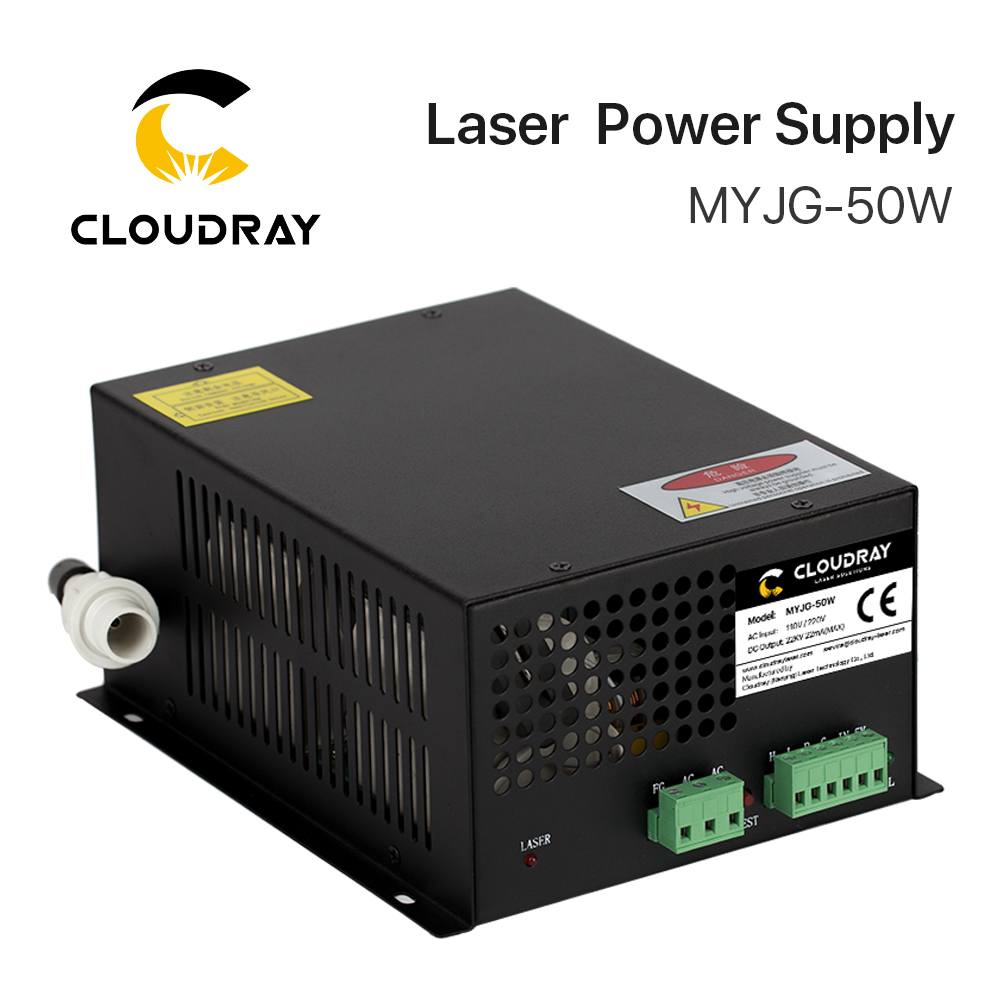 Cloudray 50W CO2 Laser Power Supply for CO2 Laser Engraving Cutting Machine MYJG-50W category мужские часы casio efr 526l 7a