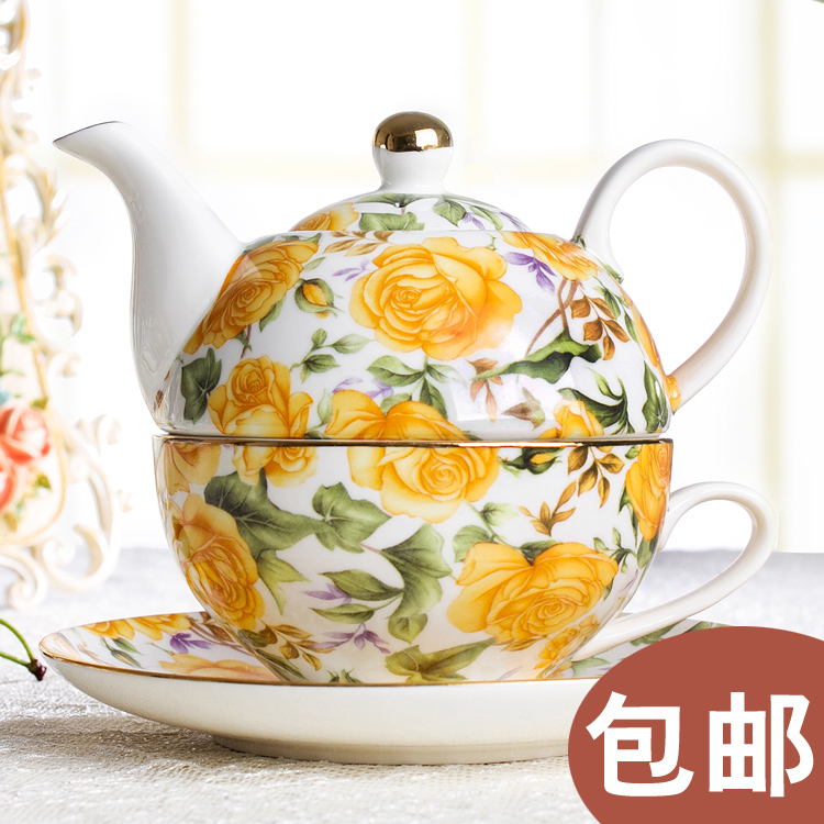 Donner et soucoupe en céramique composite un petit déjeuner pot de café pot de thé rose cadeau britannique