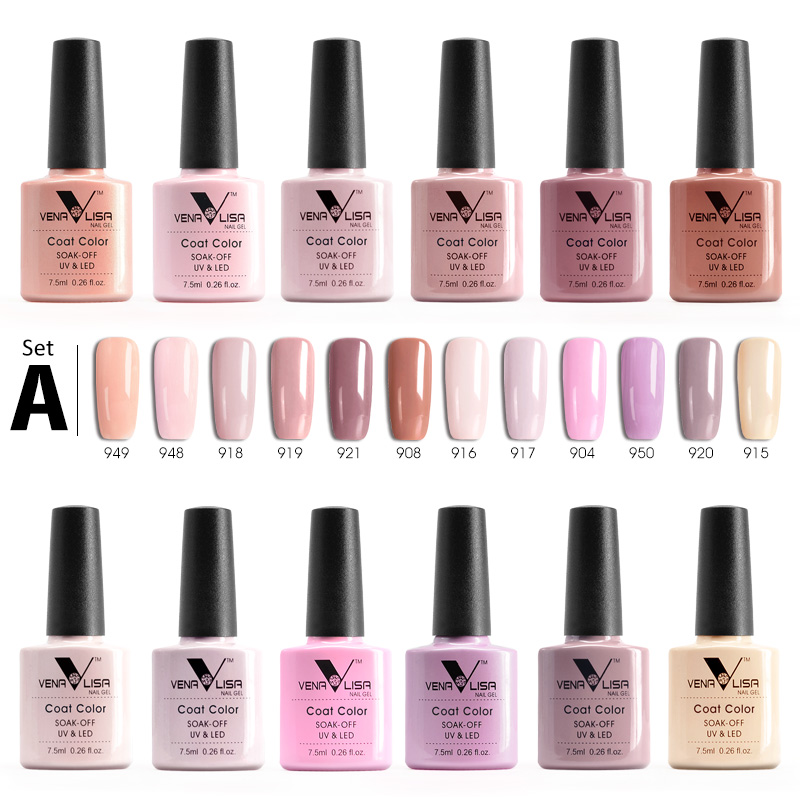12pcs/lot VENALISA Nail Gel Polish Fast Shipment Russia Warehouse Soak Off UV LED Nail Gel Lacquer 60 Colors 7.5ml Gel Varnish