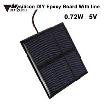 Mini Solar Panel Charger Solar Cell Solar Power Panel Polycrystalline Solar Panels Street Light Battery Charging 0.72W 5V