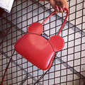 2016 прекрасный Красный Микки Сумки кожа PU Сумка Почтальона Сумочки Мода Лоскутное мышь сумки сотовый телефон карман