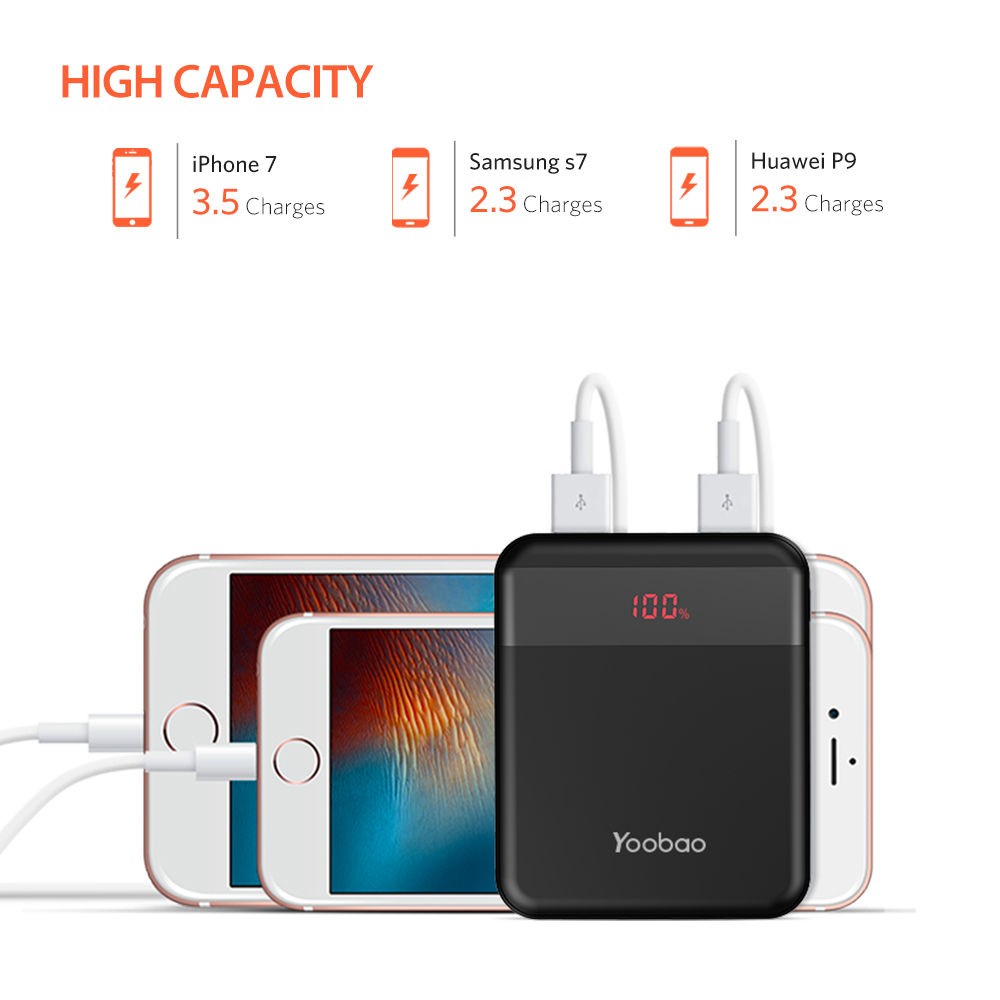 Yoobao M4Q 10000mAh Powerbank Charge Power Bank External Battery Portable Charger Support Huawei Fast Charge Mini Size in Power Bank from Cellphones Telecommunications