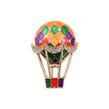 XQ Free shipping Rhinestone fashion new balloon drop glaze enamel delicate high-grade brooch