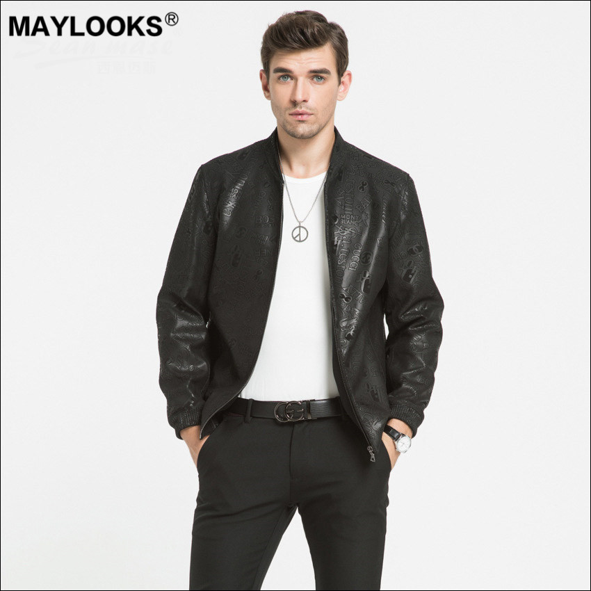 Maylooks Baseball-Suit Sheepskin Winter Autumn And Fashion Letter WS142 Printing Leisure