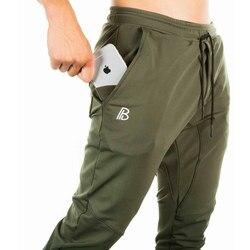 2019 Outono nova mens Sweatpants algodão academias de fitness workout sólida masculinos calças Lápis moda Casual Calças Corredores sportswear