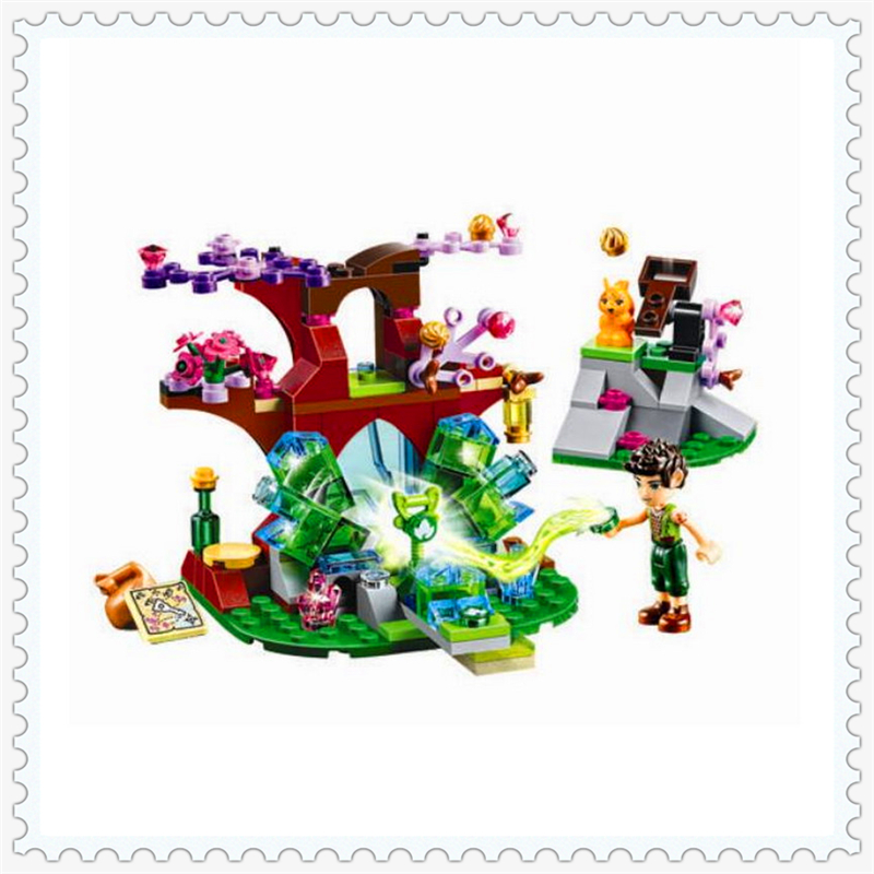175Pcs Elves Farran Crystal Hollow Model Building Block Toys BELA 10409 DIY Educational Gift For Children Compatible Legoe 10548 elves the precious crystal mine building block set naida farran figures baby dragon toys for children compatible 41177