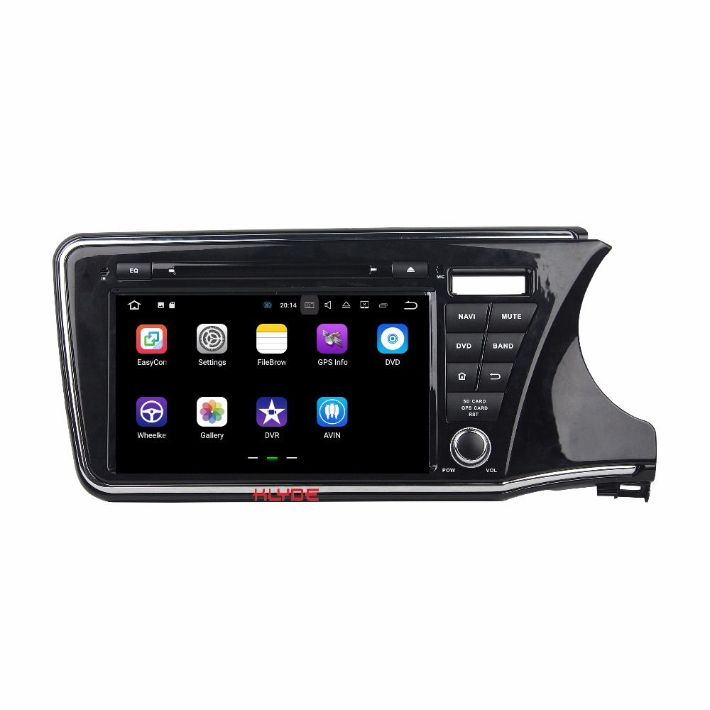 KLYDE 2Din 9″ Android 7.1 Car Multimedia Player For HONDA CITY 2014 RHD Car Radio Stereo Quad Core Car DVD Player Audio 1024*600