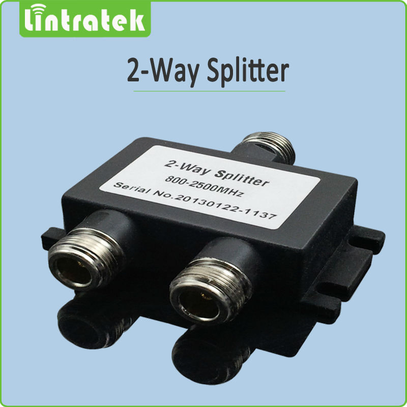 N Female 2 way power splitter 2g 3G signal repeater 2 way splitter for mobile signal