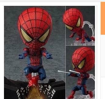 FREE SHIPPING Animation Cartoon Cool !! The Amazing 10cm Spider-Man Hero's Edition PVC Action Figure Toy пластилин spider man 10 цветов