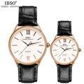 IBSO Brand Watch Women Luxury 30m Waterproof Women Watches 2016 Genuine Leather Band Quartz Wristwatches Montre Femme