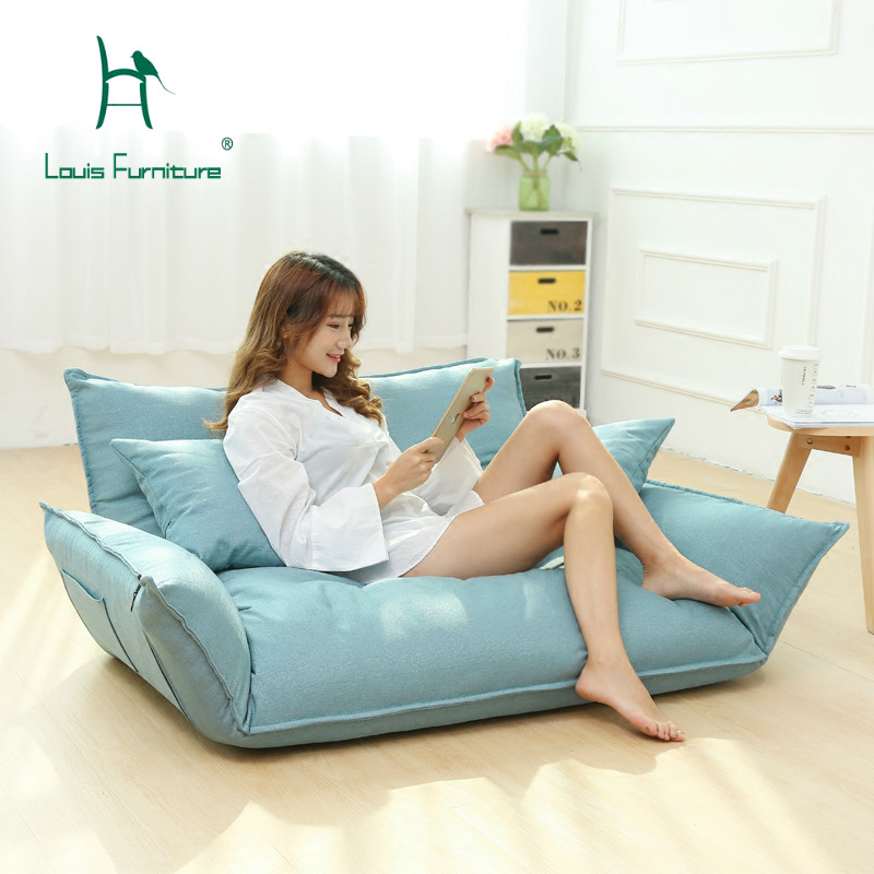 Small Apartment With Foldaway Features: Louis Fashion Bean Bag Sofas Bread Lazy Japanese Multi