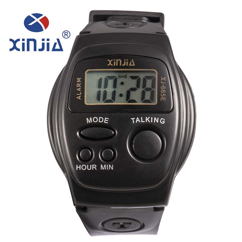 New Simple Old Men And Women Talking Watch Speak Spanish Blind Electronic Digital Sports WristWatches For The Elder